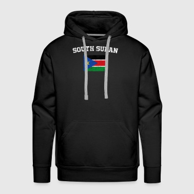 South Sudan Flag Shirt - Vintage South Sudan T-Shi - Men's Premium Hoodie