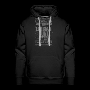 Merry Christmas From The Lesbian Aunt T-Shirts - Men's Premium Hoodie