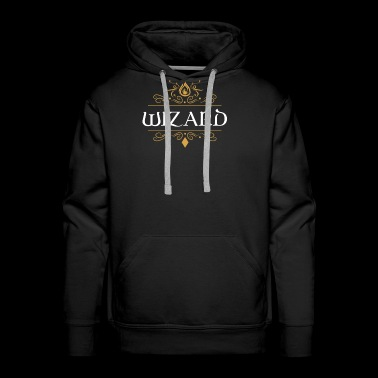 Wizard Dragons in Dungeons Tabletop RPG - Men's Premium Hoodie