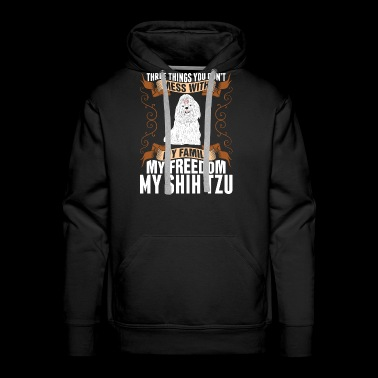 My Freedom My Shih Tzu Dog - Men's Premium Hoodie