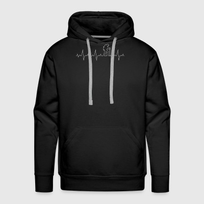 Heartbeat Camper - Adventure - hike -walking Gift - Men's Premium Hoodie