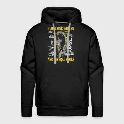 I Love One Woman Heavy Equipment Operator T-Shirts - Men's Premium Hoodie