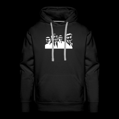 Anonymous face and sign outfit 39 - Men's Premium Hoodie