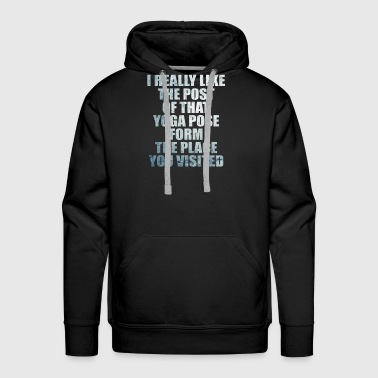 Yoga Pose Post - Men's Premium Hoodie