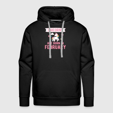 Unicorns are Born in February - Men's Premium Hoodie