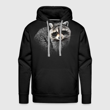 A Gentle Raccoon - Men's Premium Hoodie