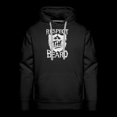 Respect the beard - Men's Premium Hoodie