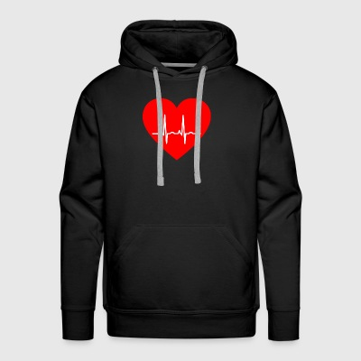 Heart with Pulse - Men's Premium Hoodie