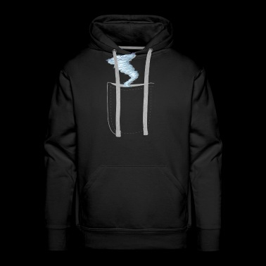 Funny Realistic Strom In A Pocket Design - Men's Premium Hoodie
