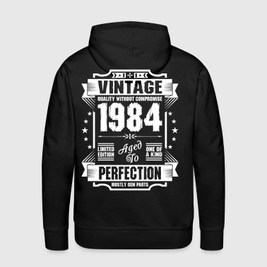 Vintage 1984 Perfection - Men's Premium Hoodie