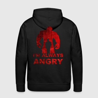 i'm always angry-red - Men's Premium Hoodie