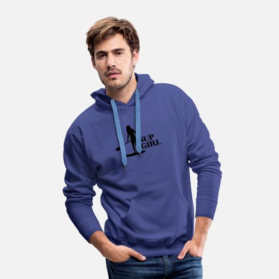 Funny Hoodies & Sweatshirts - SUP GIRL - Men's Premium Hoodie royalblue