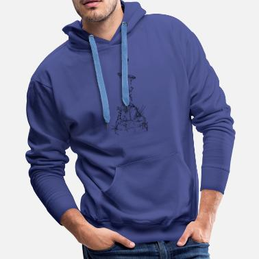 A Stone Sword in a Stone - Men's Premium Hoodie