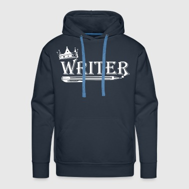 Writer White Writer with Crown - Men's Premium Hoodie