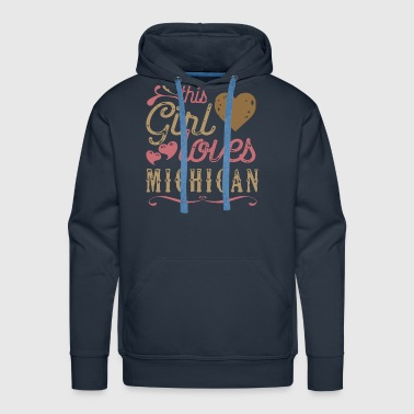 This Girl Loves Michigan - Men's Premium Hoodie