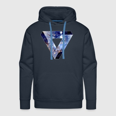 Penrose Triangle Hipster - Men's Premium Hoodie