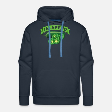 Cow Jalapeno Pepper Chili Hot Spicy Mexican Food Gift - Men's Premium Hoodie