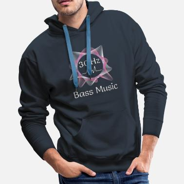 Subwoofer Bass Music 30 Hz from Subwoofer - Men's Premium Hoodie