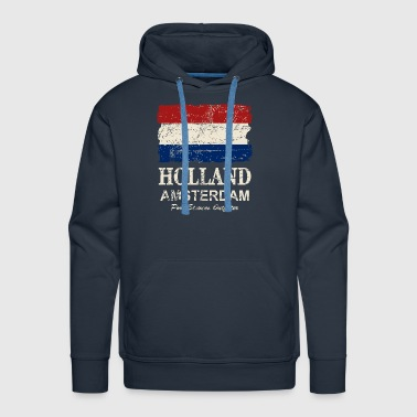 Holland Flag - Vintage Look  - Men's Premium Hoodie