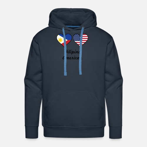 ca88fc70373 Men s Premium HoodieFilipino American Flag Hearts. Awesome Shirts