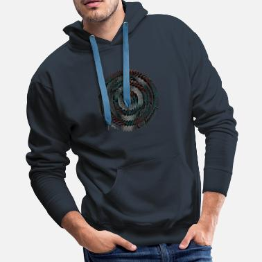 Multi Tooth circle edges - Men's Premium Hoodie