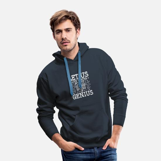 Gift Idea Hoodies & Sweatshirts - Genius Winter spring saying cool funny - Men's Premium Hoodie navy