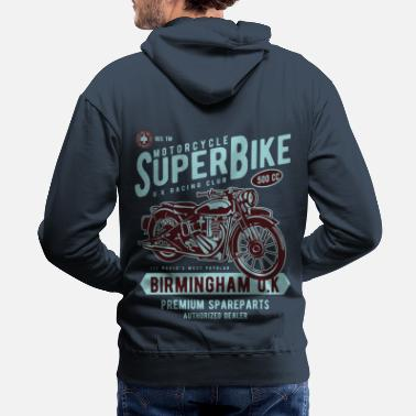 Bikes And Cars Collection Motorcycle Superbike - Men's Premium Hoodie