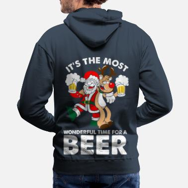 Wonderful Its The Most Wonderful Time For A Beer - Men's Premium Hoodie