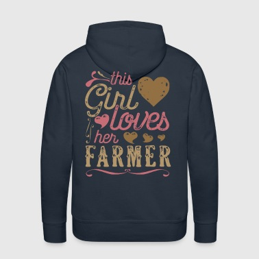 This Girl Loves Her Farmer - Men's Premium Hoodie