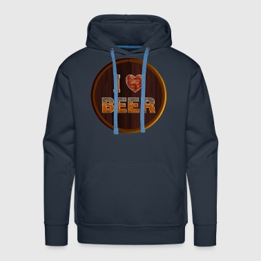 I Love Beer Keg - Men's Premium Hoodie