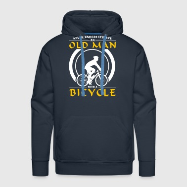 Cycling - Never Underestimate An Old Man With A Bi - Men's Premium Hoodie