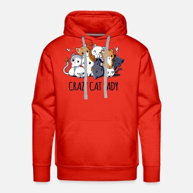 Cat Lady Crazy Cat Lady - Men's Premium Hoodie