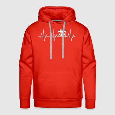 Heartbeat Drummer Drums Drumsticks Drumming - Men's Premium Hoodie
