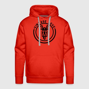 Moped Moped Motorcycle - Men's Premium Hoodie