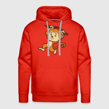 Primate Monkey animal primate wildlife vector funny image - Men's Premium Hoodie