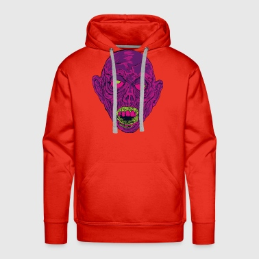 Ghastly Graveyard Ghoul Ghastly Grape - Men's Premium Hoodie