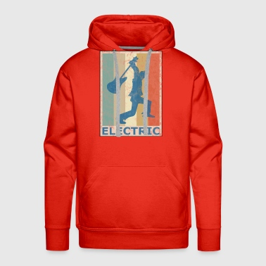 Retro Vintage Style Electric Guitar Player - Men's Premium Hoodie