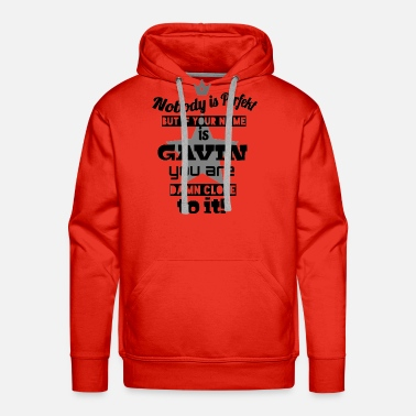 My Name Is Awesome first name Gavin ccol sayings cool gift idea - Men's Premium Hoodie