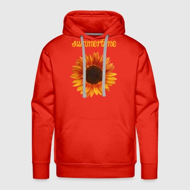 summertime - beautiful sunflower blossom - Men's Premium Hoodie
