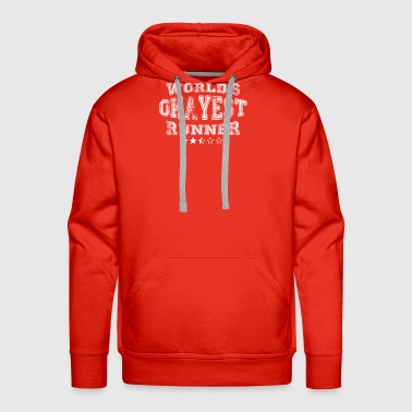 Okayest runner in the world - shirts - Men's Premium Hoodie