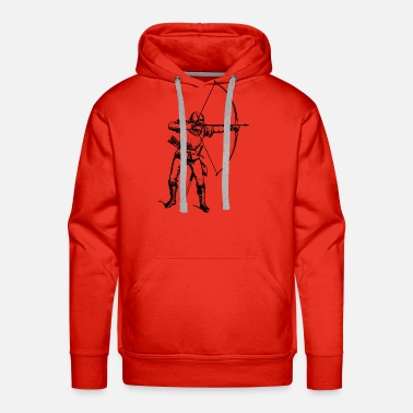 Robin archery arrow bow crossbow target sports17 - Men's Premium Hoodie