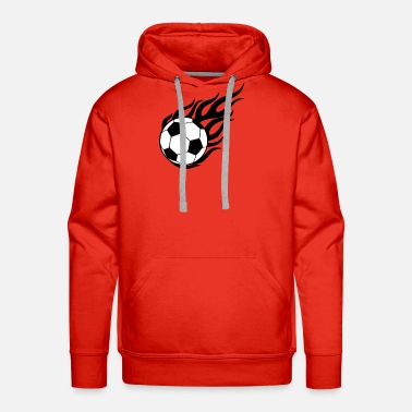 Fire Ball Ball On Fire - Men's Premium Hoodie