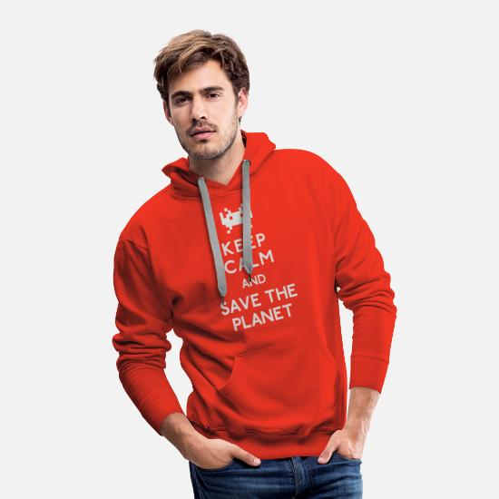 Save The Planet Hoodies & Sweatshirts - Save the planet - Men's Premium Hoodie red
