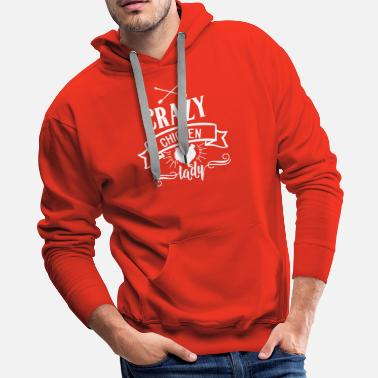 Hen Farm and Country Crazy Chicken Lady - Men's Premium Hoodie