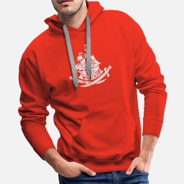 Pirate Ship Let s Get Ship Wrecked - Men's Premium Hoodie
