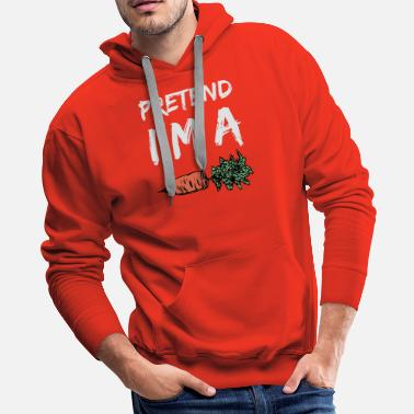 Carrot Pretend I'm a Carrot design DIY Halloween Costume - Men's Premium Hoodie