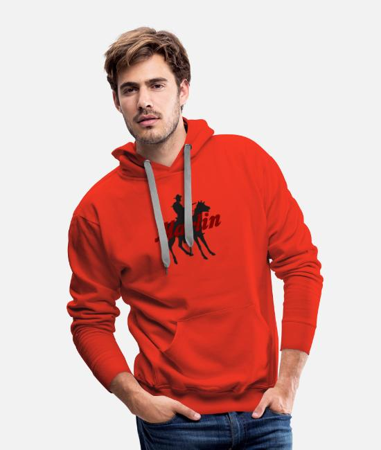 Firearm Hoodies & Sweatshirts - new Marlin Firearms Rifles Shotgun Machine Gun - Men's Premium Hoodie red