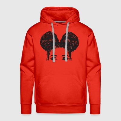 Pony Tail Girl Black Afro Female Cute Hair Style - Men's Premium Hoodie
