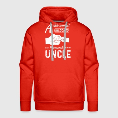 New Uncle 2018 Promoted Fathers Day Men Shirt - Men's Premium Hoodie