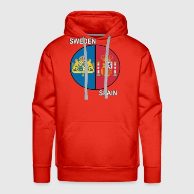 spain sweden crest text - Men's Premium Hoodie